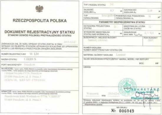 Rejestracja klubowej Dezety
